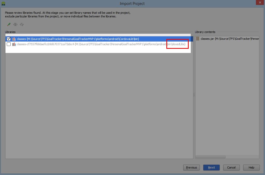Android-студия Импорт PhoneGap Библиотеки